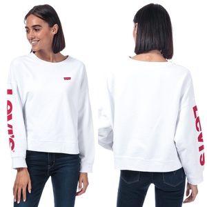 Levi's Logo Weekend Crewneck Sweatshirt Pullover